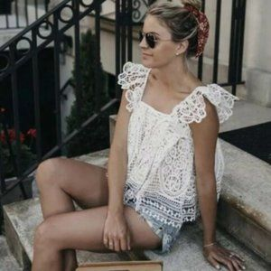 Crochet Lace Bohemian Top